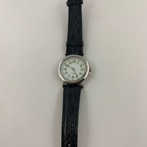 Quartz Movement Watch W/ Genuine Leather Band